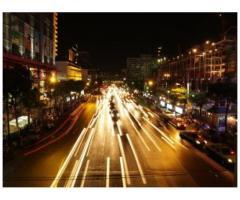Los efectos de una fotografia del trafico en Barcelona