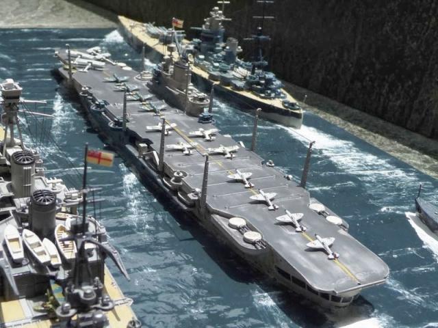 En maquetas de barcos, el portaviones Hosho